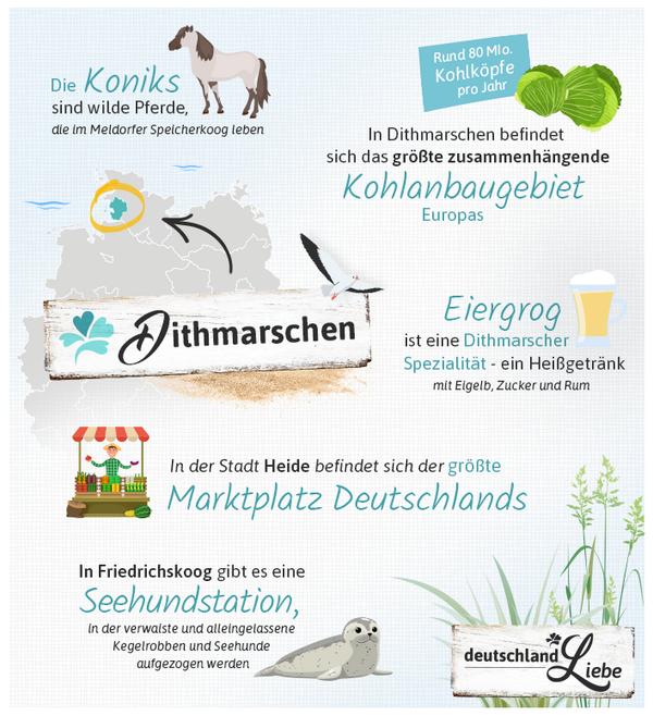 Infografik zu Dithmarschen