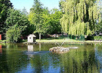 Der Hintz-Park in Marne im Sommer