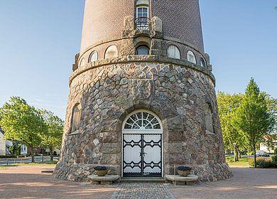 Fuß vom Wasserturm, Eingangstür
