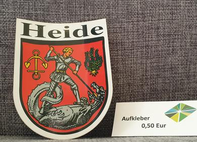 Aufkleber vom Heider Wappen in Rot 0,50€
