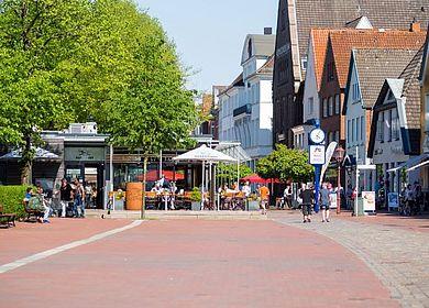Heide Marktwestseite Blick auf Marktpirat